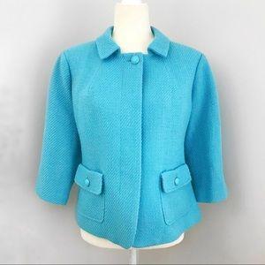 Talbots Turquoise Wool Winter Peter Pan Coat
